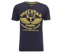 T-Shirt marine / gelb