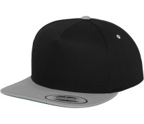 Snapback grau / schwarz