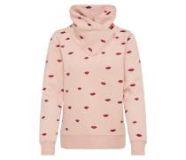 Sweatshirt puder / kirschrot