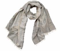 Schal mit Lurexfäden beige / grau