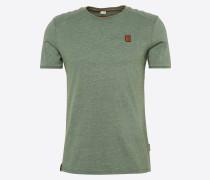 T-Shirt mit Biker-Details grün