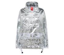 Jacke im Metallic-Look silber