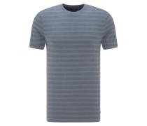 T-Shirt 'Stripe Tee' taubenblau / grau