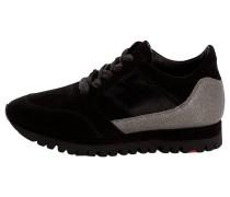 Sneaker mit markanter Schleife schwarz