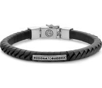 Armband 'Komang' schwarz / silber