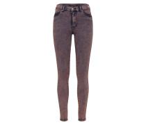 'Lexy' Jeans grau / dunkelpink