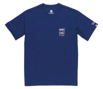 Shirt blau / grau / orange