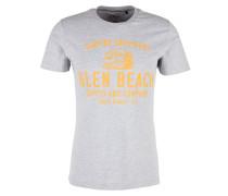 T-Shirt goldgelb / graumeliert