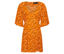 Kleid 'delicate Daze Tea' orange / weiß