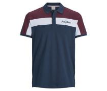 Poloshirt navy / bordeaux / weiß