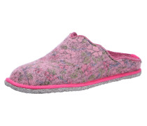 Hausschuhe grau / pink
