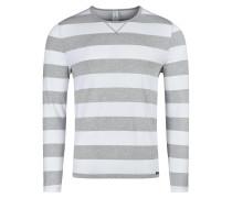 Shirt graumeliert / weiß