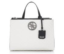 Handtasche 'G Lux' schwarz / weiß