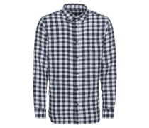 Herrenhemd 'jorijacob' blau / weiß