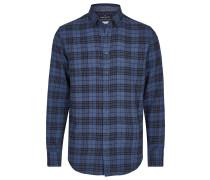 Hemd nachtblau / royalblau