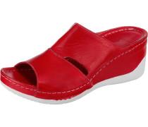 Pantoletten rot / weiß