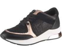 Sneakers 'Karlie' gold / schwarz
