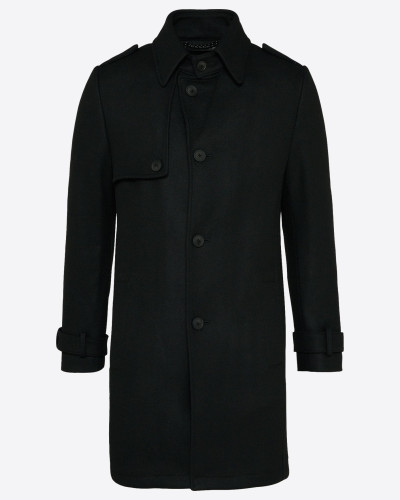 Wollmantel 'skopje' schwarz