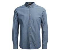 Strukturiertes Jeanshemd blau