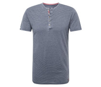 Shirt 'MT Dieter' dunkelblau / weiß