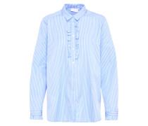 Bluse 'Simma' blau / weiß