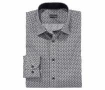 Businesshemd schwarz / weiß
