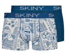 Pants 2er-Pack blau / weiß