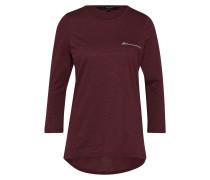 Shirt 'malka ZIP 3/4 TOP Exp' weinrot