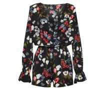 Jumpsuit 'floral' mischfarben / schwarz