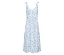 Kleid rauchblau / wollweiß