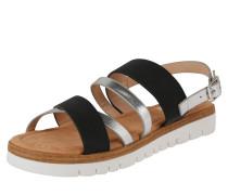 Sandale 'dama' schwarz / silber