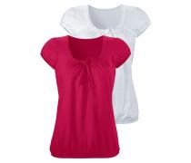 Shirts himbeer / weiß