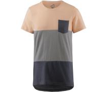 T-Shirt grau / anthrazit / altrosa