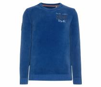 Pullover aus Chenille-Garn mit Logostick