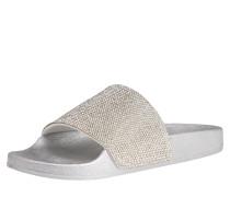 Pantolette 'diamond' silber