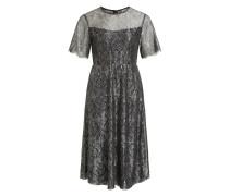 Kleid mit kurzen Ärmeln schwarz / silber