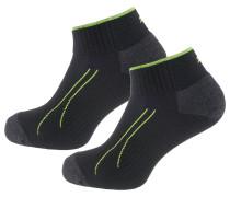 Socken schwarz / neongrün