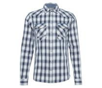 Hemd im Karo-Look blau / offwhite