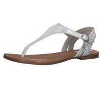 T-Steg-Sandalen silber