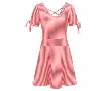 Strandkleid rot / weiß