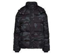 Puffer Jacke grau / schwarz / weiß