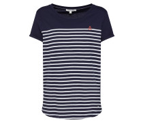 Shirt dunkelblau / rot / weiß