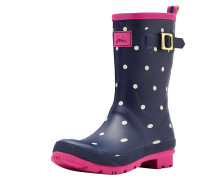 Gummistiefel 'mollywelly' navy / pink