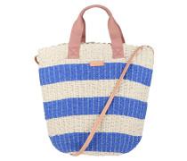 Strandtasche 'Emilia' creme / blau