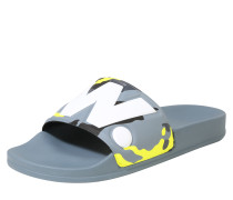 Pantolette 'Cart Slide' gelb / grau