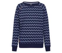 Sweatshirt 'Daria Zig Zag' navy