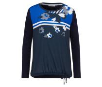 Shirt 'Carol' blau / enzian / grau / weiß