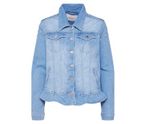 Jeansjacke 'Pearls' blue denim