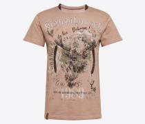 T-Shirt 'Gaudibursch' braun / mischfarben