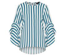 Shirt 'stripe Madrid Flare' petrol / weiß